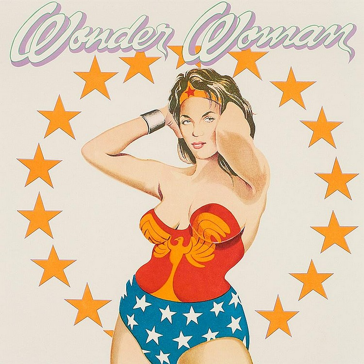 Mel Ramos, Color Lithograph, 'Wonder Woman', USA, 1979