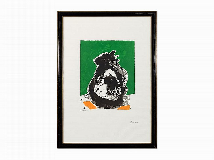 "Robert Motherwell, ""The Basque Suite #2,"" Screenprint, 1970-71"