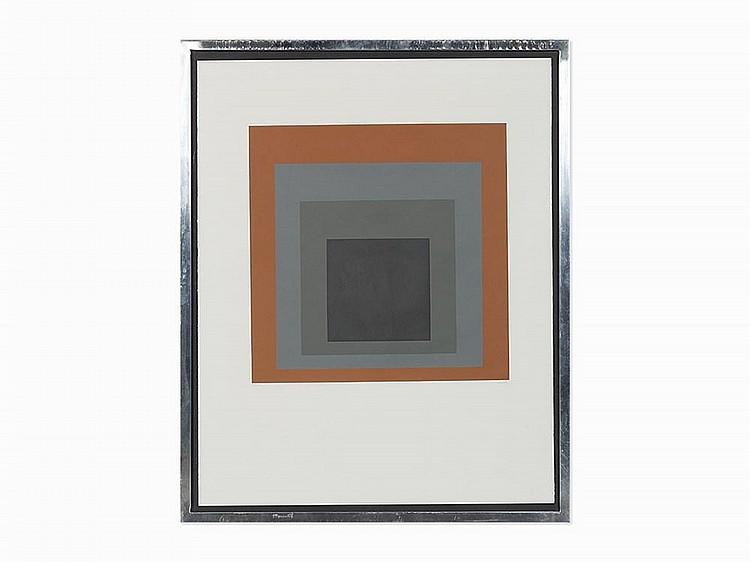 "Josef Albers, ""Homage to the Square"", Screenprint, 1964"