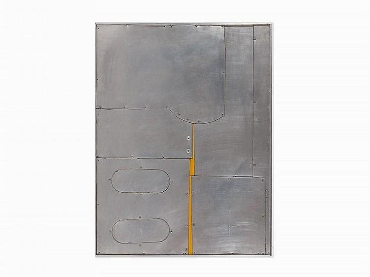 """Conrad Marca-Relli, """"M-8-63,"""" Aluminum Collage, 1963"""