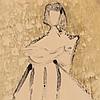"Milton Avery, ""Seated Woman,"" Monotype, 1950"