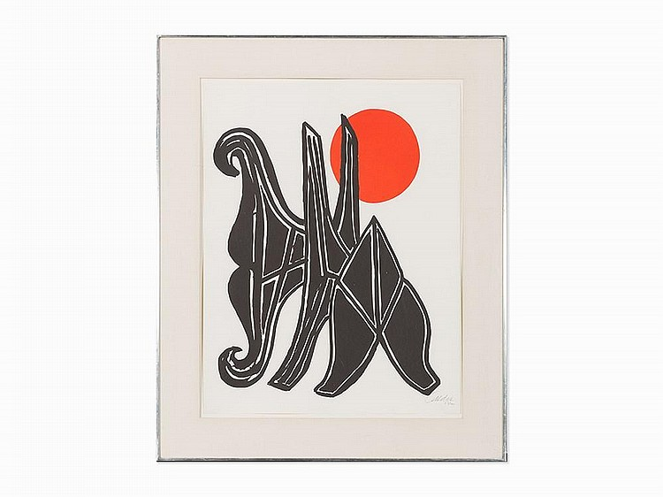 """Alexander Calder, """"Young Woman and her Suitors,"""" 1970"""