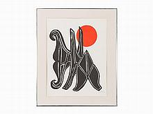 "Alexander Calder, ""Young Woman and her Suitors,"" 1970"