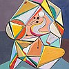 """Benjamin Benno, """"Renaissance Sans Cristallisation,"""" Oil, 1938"""