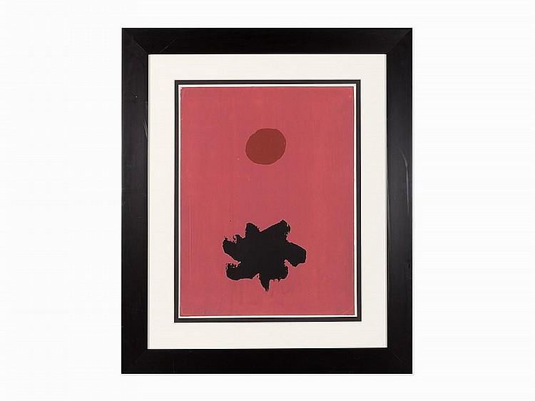"""Adolph Gottlieb, """"Rosy Mood,"""" Screenprint, 1967"""