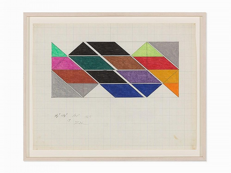 "Larry Zox, ""Untitled,"" Work on Paper, 1965"