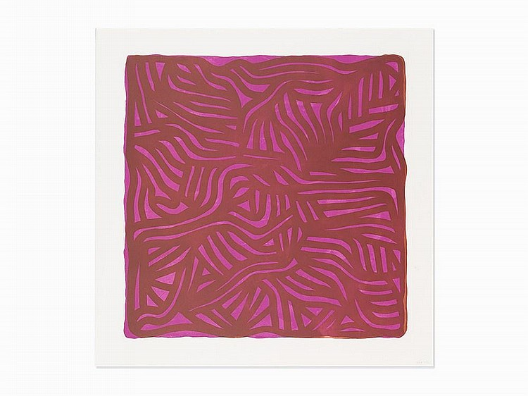 "Sol Lewitt, ""Untitled (Purple),"" Lithograph with Etching, 2004"