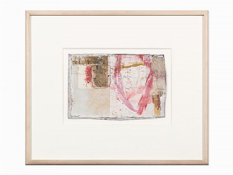 "Hannelore Baron, ""Untitled,"" Mixed Media Collage, 1985"