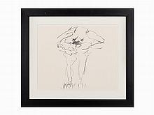"Willem de Kooning, ""Clam Digger,"" Lithograph, 1966"