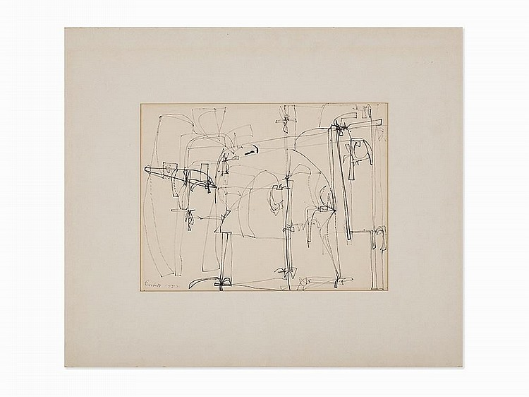 "Edward Corbett, ""Untitled #38"", Work on Paper, 1957"