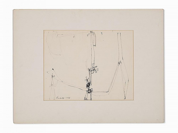 "Edward Corbett, ""Untitled #33"", Work on Paper, 1956"