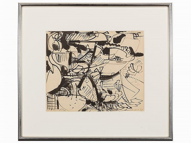 "Hans Hofmann, ""Untitled,"" Work on Paper, 1938"