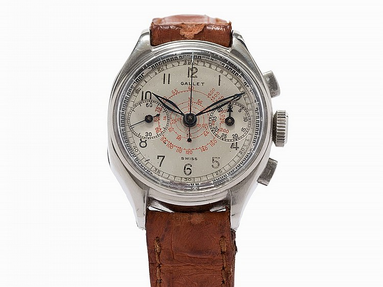 Gallet Multichron Petite Chronograph, Switzerland, c.1950