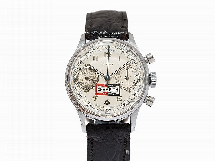 Gallet Vintage Chronograph 'Champion', Switzerland, c.1960