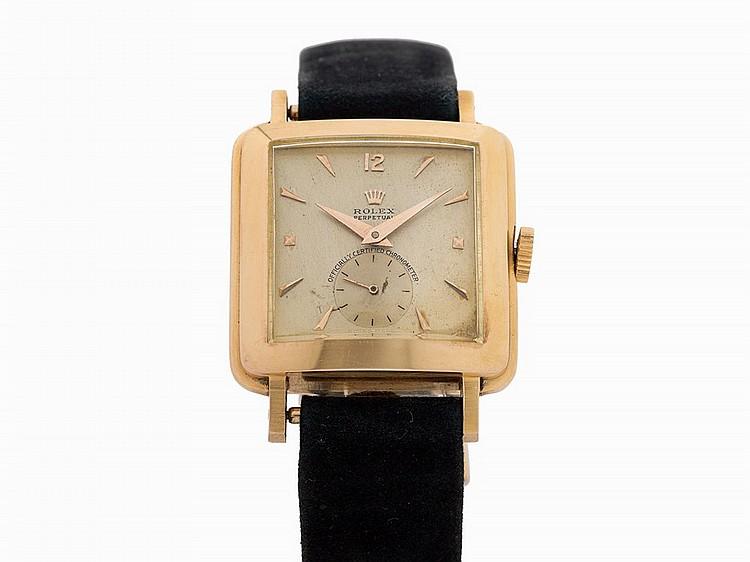 Rolex Vintage Square Wristwatch, Ref. 4643, Switzerland, c.1950