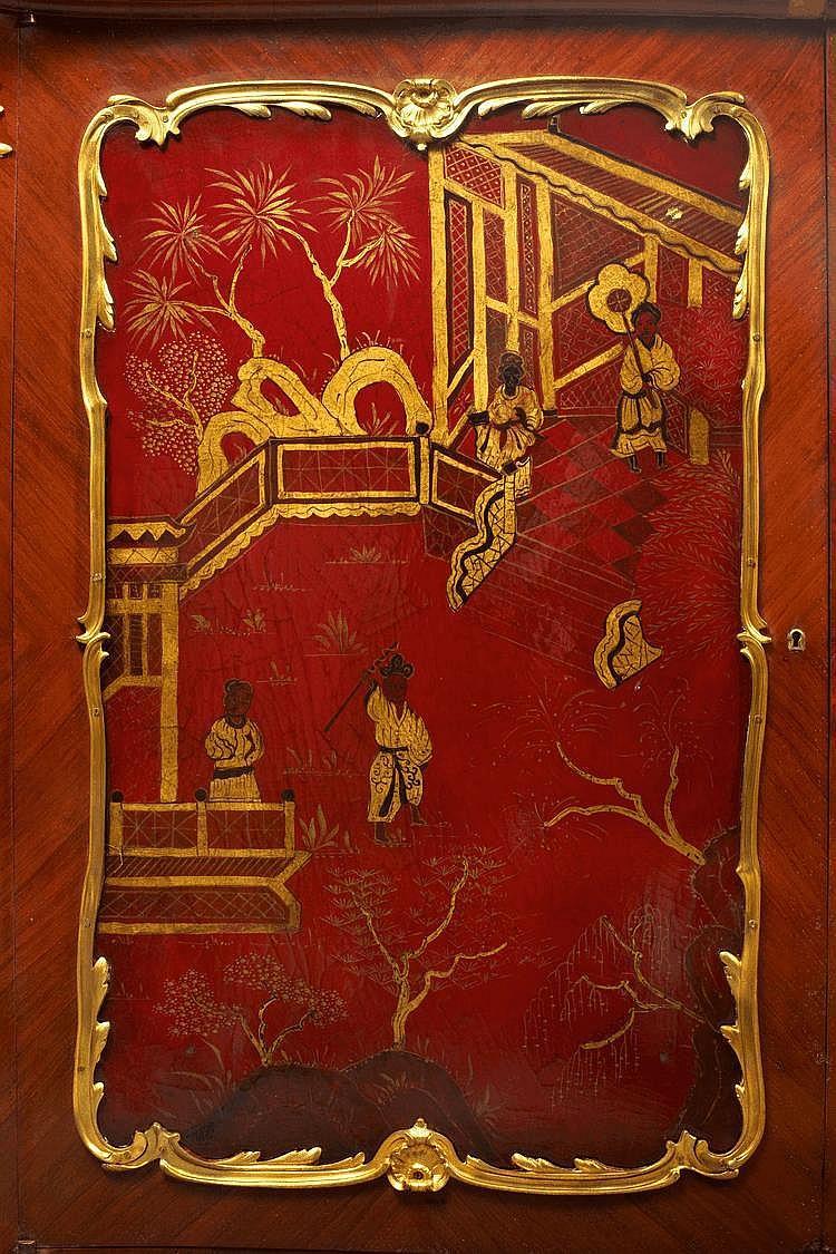 henri dasson 1825 1896 meuble hauteur d 39 appui en marquet. Black Bedroom Furniture Sets. Home Design Ideas