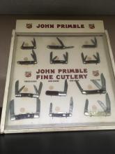 John Primble knives display