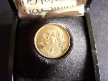 Bicentennial Commemorative 12kt Gold Coin. Includes Certificate of Authenticity