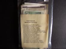 Collection of World Currency in Crisp Uncirculated Condition.  Contains over 30 Bank Notes!