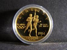 1984-W UNITED STATES $10 GOLD COIN OLYMPICS (.4837 AGW / $10 DOLLAR GOLD COIN !!!!!!!!!)