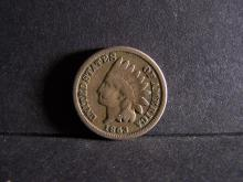 1863 COPPER NICKEL INDIAN CENT (GREAT DETAILS !!!!!!!!!!!!!)