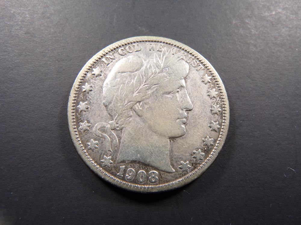 1908-S Barber Half Dollar **VF!!**