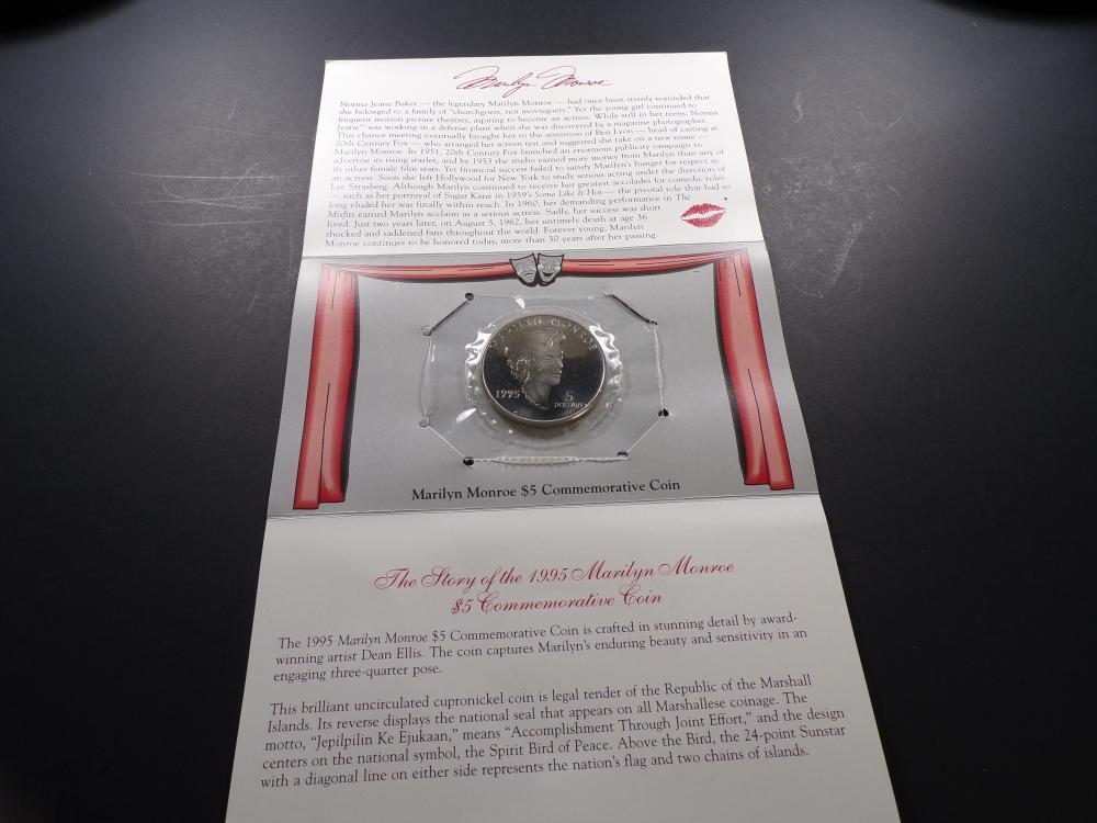1995 Marilyn Monroe $5 Commem Coin