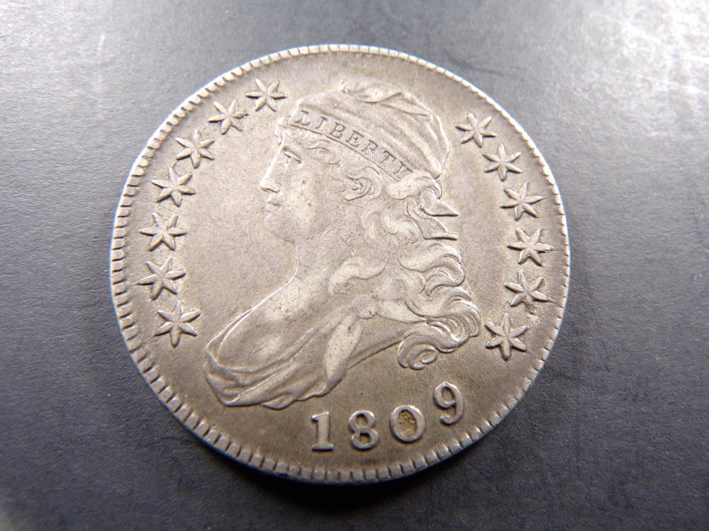 1809 Capped Bust Half-Dollar. XF++ **RARE EARLY DATE**
