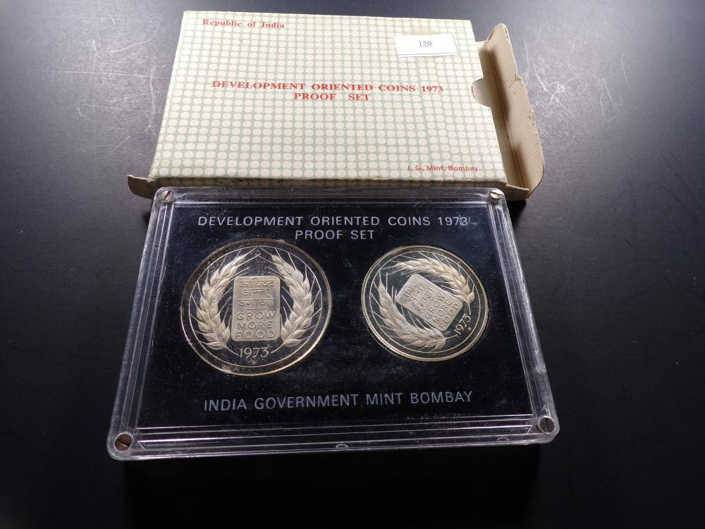 1973 Republic of India Development Oriented Coins Proof Set