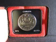 1972 Canada Silver Dollar.  Beautiful Toning!