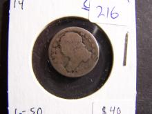 1814 Capped Bust Dime.  Very collectible!