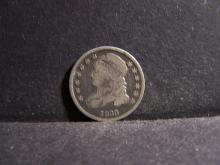1833 Capped Bust Dime.  Original VG Coin.  Great for your type collection!