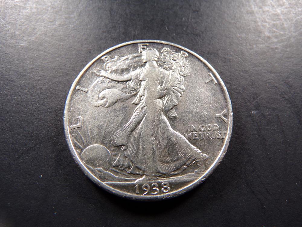 1938-D Walking Liberty Half Dollar - VF+!!