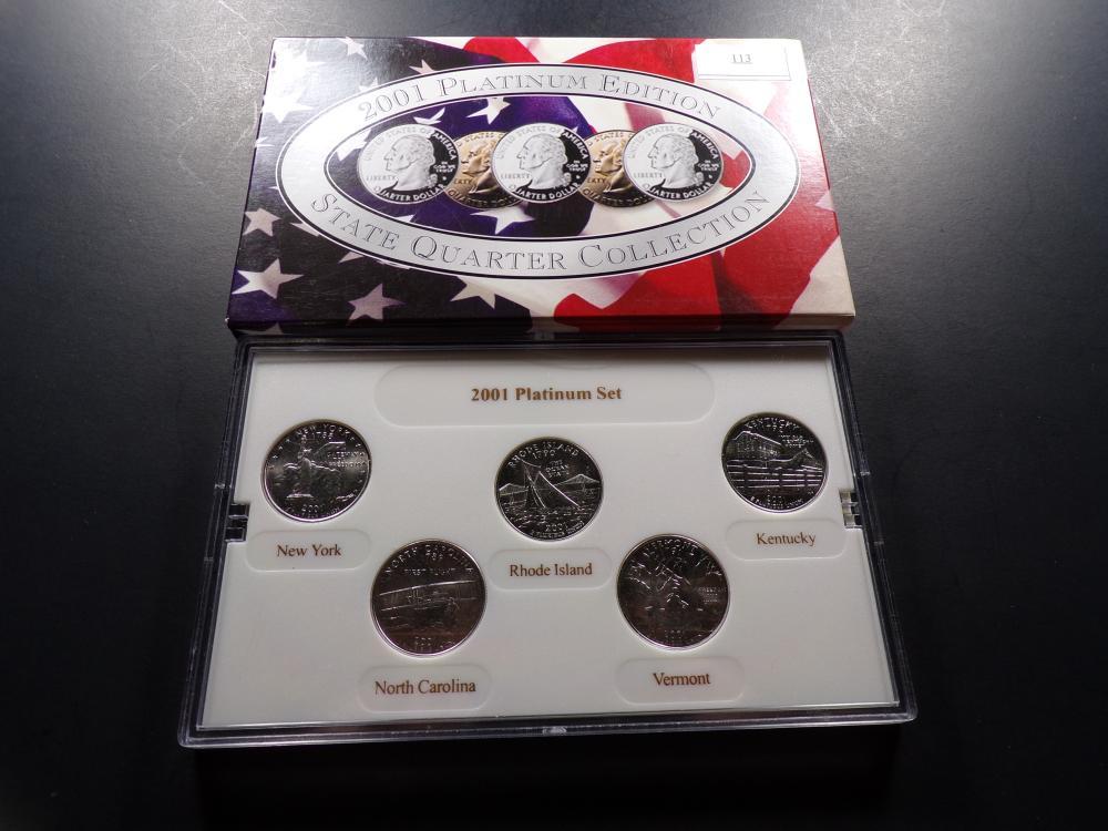 2001 Platinum Edition State Quarter Collection