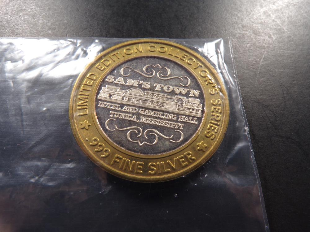 Limited Edition .999 Silver $10 Tunica, Mississippi Sam's Town Hotel & Gambling Hall Token