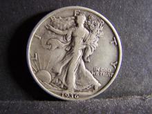 1936 WALKING LIBERTY HALF DOLLAR (NICE DETAILS !!!!!!!!!!)