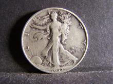1937 WALKING LIBERTY HALF DOLLAR (NICE DETAILS !!!!!!!!!)