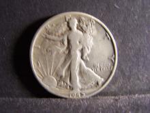 1945-D Walking Liberty Half-Dollar.