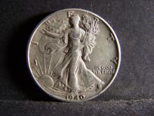 1940 WALKING LIBERTY HALF DOLLAR (STRONG DETAILS !!!!!!!!!!!)