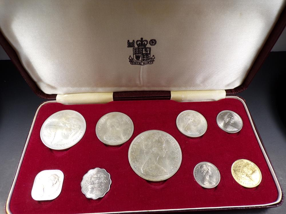 1966 Bahama Islands Canadian Silver UNC Set - Includes Four Silver Coins in Nice Display Box