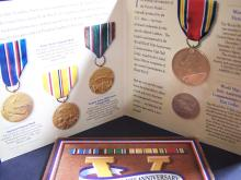 WWII COMM. COIN AND VICTORY MEDAL SET