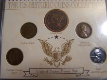 U.S. HISTORIC COIN COLLECTION PENNY SET (RARE CENT COLLECTION !!!!!!!!!!!!!!!!)