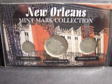 New Orleans Mint Mark Collection 3-Coin Set.