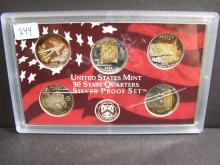 2008 Silver Quarter Proof Set.  Very interesting & attractive toning!