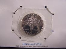 Heroes of D-Day 50th Anniversary $5 Commemorative Coin.