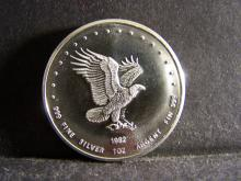 EAGLE 1 TROY OUNCE .999 FINE SILVER