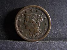 1852 BRAIDED HAIR LARGE ONE CENT (GREAT DETAILS !!!!!!!!!!!!!)