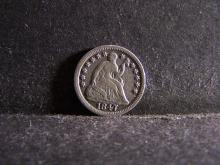 1847 SEATED LIBERTY HALF DIME (VF. DETAILS !!!!!!!!!!!!!!)