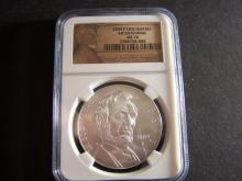 2009-P NGC GRADED MS70 BICENTENNIAL LINCOLN SILVER DOLLAR (VERY RARE / MS70 !!!!!!!!!!!!!)