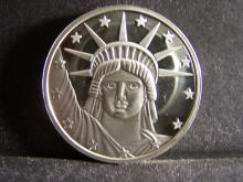 LADY LIBERTY 1 TROY OUNCE .999 FINE SILVER